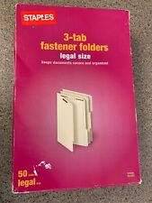 Staples 1 Box Of 50 Reinforced Fastener Folders 2 Fasteners Legal 3 Tab A2