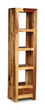 CUBE LIGHT SHEESHAM SLIM JIM BOOKCASE (C9L)
