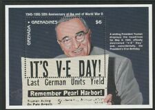 GRENADA GRENADINES 1995 50th ANNIVERSARY END OF WWII MINIATURE SHEET MNH