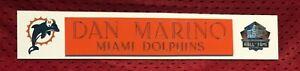 DAN MARINO  NAME PLATE FOR HELMET / FOOTBALL/ CARD /JERSEY / PHOTO