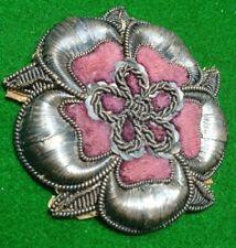 More details for stunning 19th c. officer's/nco's silver bullion lancaster rose sleeve badge?