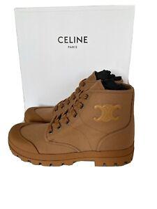 NIB Celine Lace Up Ankle Boot canvas Women Size 39