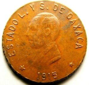 Mexico: 1915 Oxaca Mexico 5 Centavos    57-668