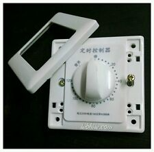 E19 220V AC Mechanical Timer Relay Switch 0-120 minute delay Modular Face Plate