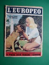 L'EUROPEO 1956 MARILYN MONROE Miller DIANA DORS Salorno Grace Kelly May BRITT