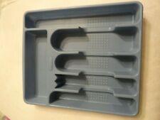 Vintage Rubbermaid #2925 Blue Flatware Silverware Drawer Organizer