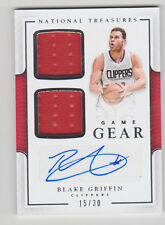 BLAKE GRIFFIN 2016-17 Panini National Treasures Game Gear Jersey Auto #D /30 QTY