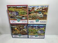 Charles Wysocki Puzzles 1000 pieces lot Of 4 Brand New Buffalo 91400