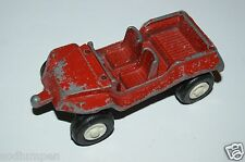 Old Vintage 1969 Red Jeep Tow Hitch Tootsietoy Metal Diecast Toy Great Aging