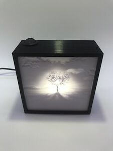 Desert Solitude Lithophane Lamp Nightlight-Peace and Tranquility a Touch Away