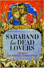 SARABAND FOR DEAD LOVERS 1948 Stewart Granger ROBERT MEDLEY Ealing 20x30 POSTER