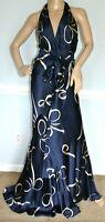 Ralph Lauren Collection Purple Label Bow Halter Long Maxi Dress Gown IT 42 US 6