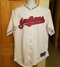 VTG CLEVELAND INDIANS MENS XL A.CABRERA AUTHENTIC MAJESTIC STITCHED WHITE JERSEY