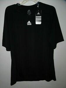 Adidas Tech Fit Mens Athletic Shirt Short Sleeve 2XL Black