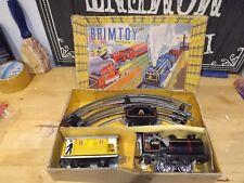 VINTAGE BRIMTOY O GAUGE TINPLATE MODEL No.306 PASSENGER TRAIN SET minic