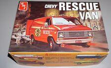 Chevy Rescue Van Vintage AMT 1/25 Complete & Unstarted.