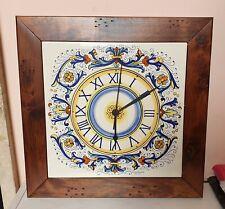 Orologio parete Ceramica Maiolica da muro Deruta Dipinto a mano