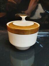 Mikasa Harrow A1-129 Ivory And Gold Covered Sugar Bowl