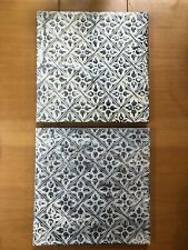 New listing Original 11�x11� Antique Reclaimed Tin Ceiling Tile Wood Mounted Ornate Decor