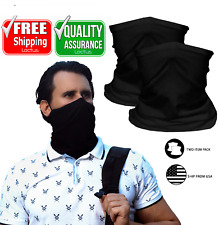 2 Item Pack Bandanna Neck Gaiter Face Mask Cover Balaclava with Adjustable Strap
