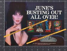 ELVIRA - Thriller Video__Original 1985 print AD / horror promo__SUZE RANDALL