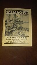Original 1900's W. Stokes Kirk Philadelphia, Pa Military & Sporting Catalogue