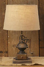 RUSTIC DECOR Iron Coffee Grinder Lamp Electric Tabletop Lamp Lighting On/Off