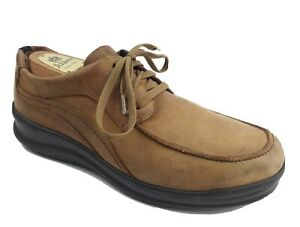 Sas Men's Sz US 10M Move On Lace Up Shoe Camel Color Good Used Condition GUC