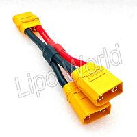 XT90 Buchse auf 2x Stecker parallel AMASS 10AWG !!! Adapter Kabel Ladekabel LiPo