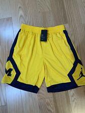 Nike NCAA University of Michigan Jumpman Shorts Sz XL BNwT AQ8895-728 Wolverines