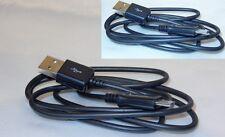 USB-micro USB cable de datos cable de carga para celular samsung vodafone Sony HTC Black
