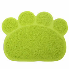 Green PAW Feed Placement Pet Dog Puppy Cat Feeding Mat Pad PVC Dish Bowl Food