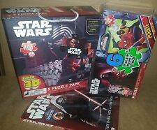 NEW 3D STAR WARS, Avengers, Spiderman, Coloring Book-Disney & Marvel Puzzle Lot