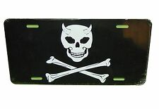 DEVIL PIRATE LICENSE PLATE 6 X 12 INCHES ALUMINUM NEW MADE IN USA