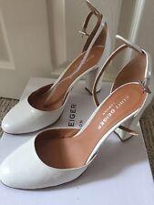 Kurt Geiger London 'Ella' Shoes Textured White Leather Size 41/UK 8 New with box