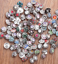 wholesale 10pcs 12mm Interchangeable metal Buttons Snap Charms chunk Jewelry yzc