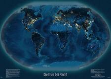 """Weltkarte """"Die Erde bei Nacht"""", 100 x 70 cm, deutsch"""