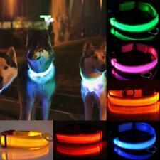 collier pour chien en nylon avec éclairage led pour la nuit animaux pet dog