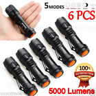 6PC 5000LM CREE Q5 AA/14500 3 Modes ZOOMABLE LED Flashlight Torch Bright LOT