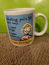 VINTAGE 1988 Shoebox Greetings Coffee Mug Admitting You're 30 Birthday UNUSED