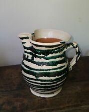 19. Jh. Gmundner Keramik Krug, grün geflammt, um 1880, sehr schöne Rarität
