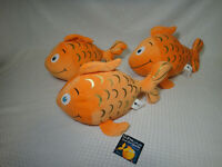 Kohls Cares Fish with the Deep Sea Smile Goldfish Plush Stuffed Animal Lot of 3