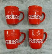"Set 4 Old Bailey's Rum Vintage 1990's Red Stoneware Pottery 4"" Mugs FREE S/H"