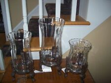 Celebrating Home 3 Beacon Hill Hurricanes with Metal Holders NOS Read uses