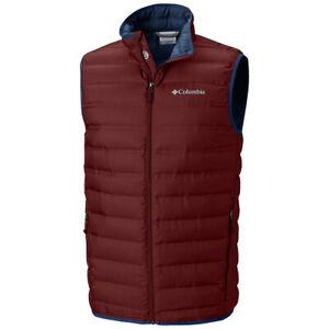 "New Mens Columbia ""McKay Lake"" Heat Seal Packable 650-Fill Down Winter Vest"