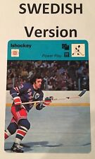 PHIL ESPOSITO 1979 SWEDISH Sportscaster card from SWEDEN - NEW YORK RANGERS