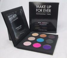 Make Up For Ever 9 Artist Shadow Palette ~ Shadows 2 ~ .06 oz. Each ~ BNIB