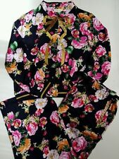 Viscose Pajama Sets Floral Sleepwear for Women