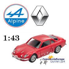 MODELLINO RENAULT ALPINE CARS VINTAGE MONDO MOTORS 1/43 DA COLLEZIONE IN METALLO