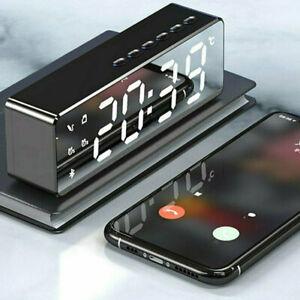 USB LED Wecker Digital Alarmwecker Funk Uhr Kalender Schlummerfunktion MP3 DE